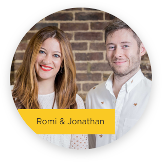 Team members Romi and Jon